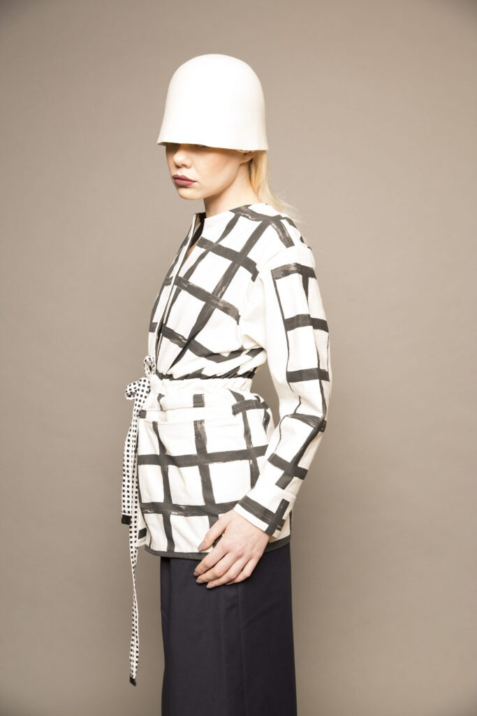 Black-and-White-Checked-Jacket