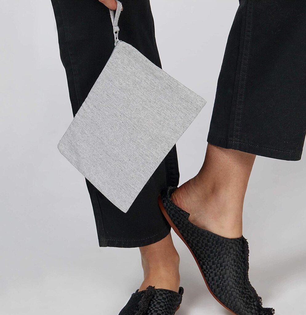 grey-clutch bag