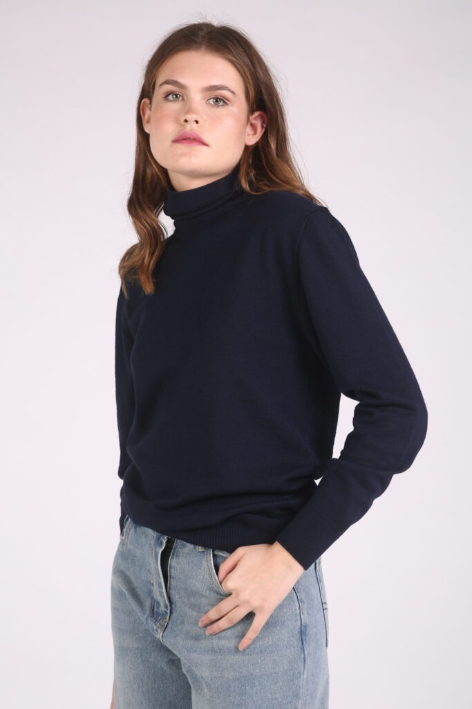 Blue-Sweater-Grey-Trousers
