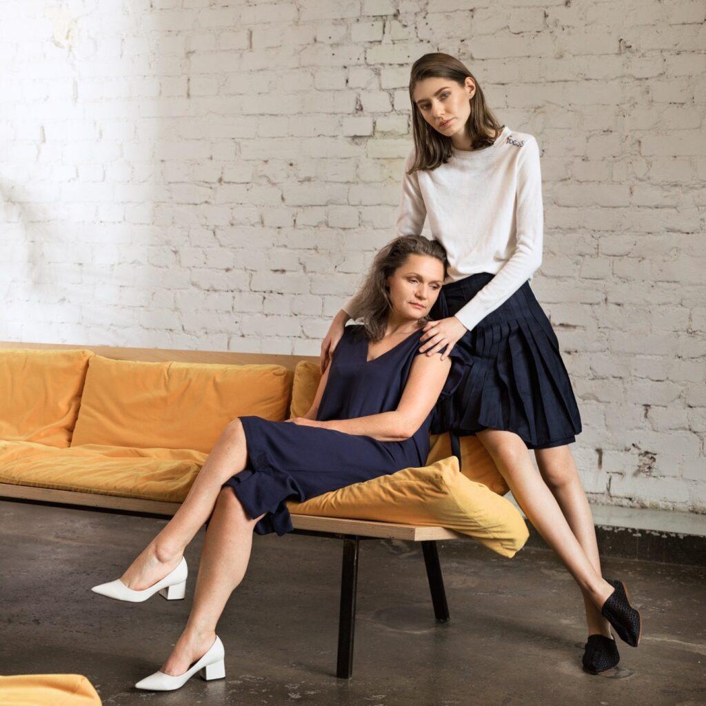 blue-dress-two-women