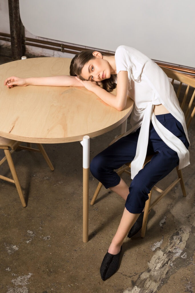model-on-table